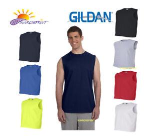 9db78da6aa9a Gildan - Ultra Cotton Sleeveless T-Shirt S M L XL 2XL - 2700   eBay