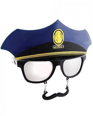 Sun Staches Police Officer Cop Sunglasses Eye Glasses Funny Mask Gag Gift Men