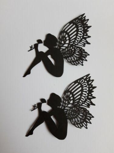 Die Cut Silhouette FAIRY FUCHSIA x 10 Card making Fairy Jars Crafts 3 sizes