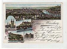GRUSS AUS WURZBERG: Bavaria postcard (C17442)