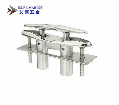 """Marine 5/"""" Flush Pop-UP Pull Cleat 316 Stainless Steel Dock Boat w Backing Plate"""