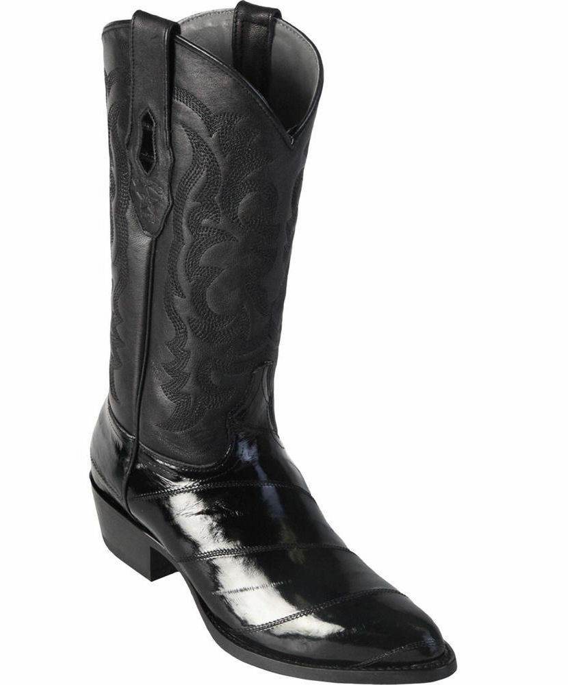 Los Altos Mujer botas Cowboy Occidental Negro Genuino Anguila Anguila Anguila (M) L090805  edición limitada