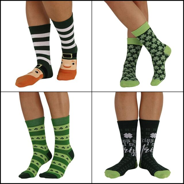 NWT Womens St Patrick/'s Day Socks 4 designs to choose from 9-11 Irish Shamrocks