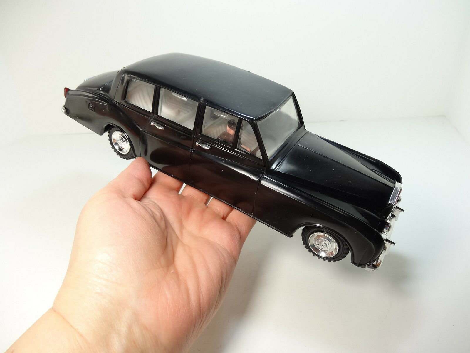 NFIC Hong Kong Rolls Royce vintage 11  friction jouet voiture Noir Limousine Windows bouge