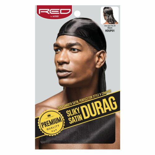Red By Kiss Premium Quality Silky Satin Durag #Hdup Extra Long Tails Doo Rag by Red By Kiss