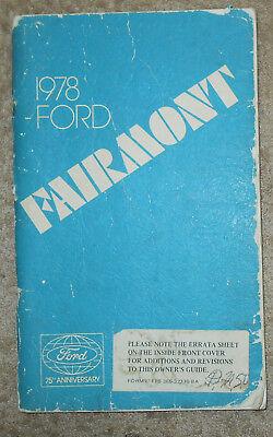 1978 ORIGINAL OWNER'S MANUAL Ford Fairmont YxgSpYF