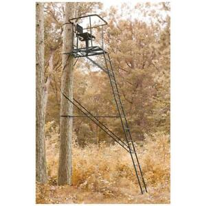 Ladder Tree Stand 16 Swivel Chair Deer Hog Game Hunting