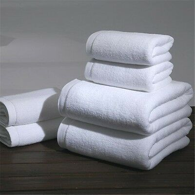 HIS /& HERS embroidered spa-quality white 100/% cotton bath towels NWT