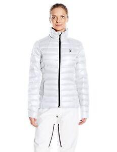 Snowboard Nwt Free Kvinder Prymo Large Jacket Spyder Ski Størrelse Down Shipping White qv0rgq