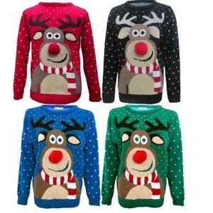 Детские женские мужские 3D помпоны Рудольф олени Рождество Рождество унисекс джемпер свитер