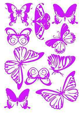 10 BUTTERFLIES Vinyl WALL art Laptop CAR STICKER lorry van decal decor