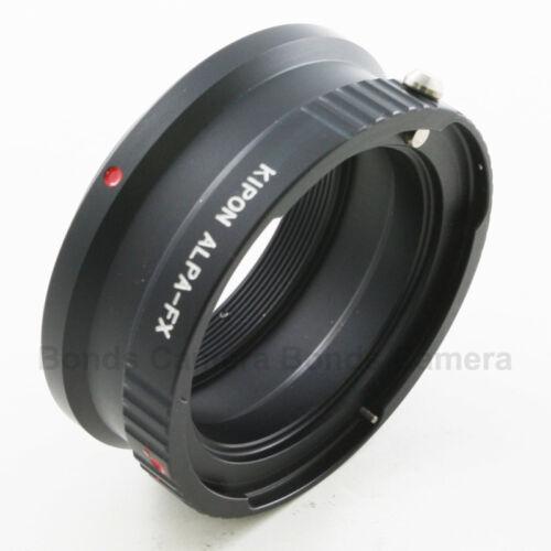 Kipon Alpa mount lens to Fujifilm X-Pro1 Fuji X-T1 X-M1 FX Mount Camera Adapter