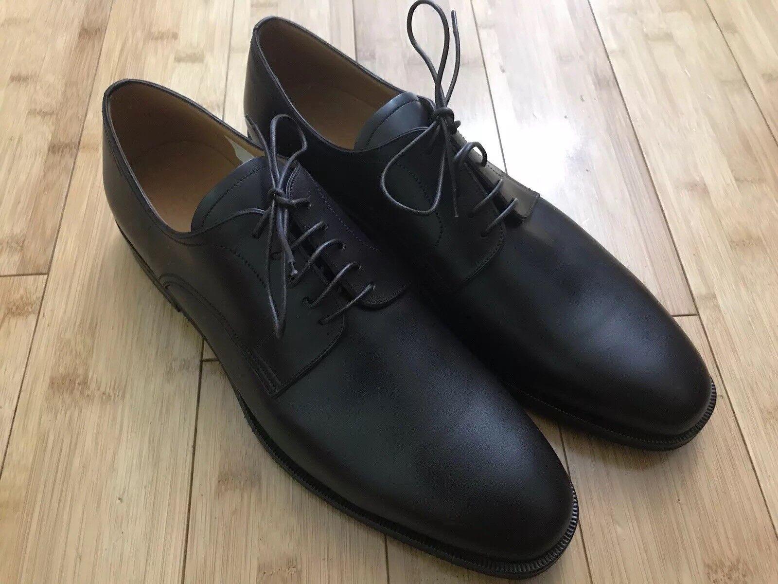 vendite dirette della fabbrica Bally Of Of Of Switzerland Salfano Chocolate Calf Plain Leather scarpe Dimensione 10  negozio di moda in vendita