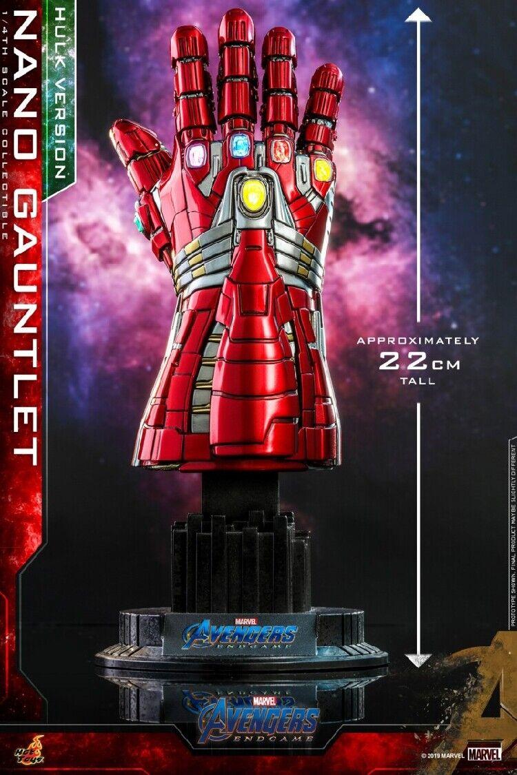 Caliente giocattoli 1  4 ACS009 Avengers Endgioco Hulk Nano Infinity Gauntlet Collections  il più economico