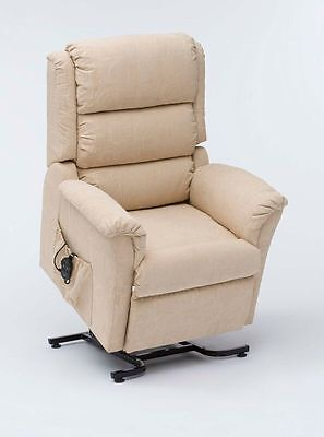 Nevada Petite Dual Motor Riser Recliner Chair Beige, Green, Gold or Terracotta | eBay