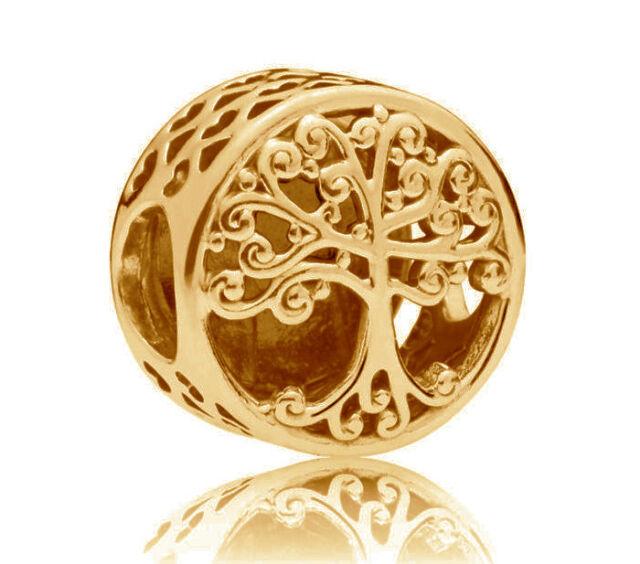 Genuine PANDORA Family Roots Openwork Charm 14K Gold Vermeil Plated 797590