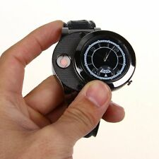 New Windproof  Men's Cigar Lighter USB Electronic Rechargeable Wristwatch  Black
