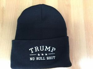 b59f734a163 Image is loading TRUMP-NO-BULL-HIT-EMBROIDERED-Beanie-CAP-HAT-