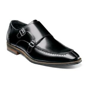 Stacy-Adams-Baldwin-Mens-Shoes-Moc-Toe-Double-Monk-Strap-Black-Leather-25188-001