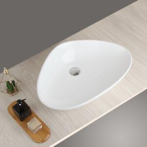 White Sink Bathroom Ceramic Vessel Bowl No Drain Basin Combo Ebay