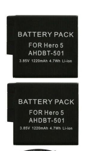 Cargador USB Ranura 2 Batería ajuste a GOPRO HEARO Negro 8 7 6 5