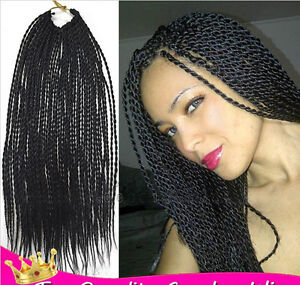 African Small Braids Crochet Twist Hair Black Long Extensions