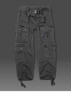Hose Cargohose Army Schwarz Look Im Pure Pant Neuware Cargo Vintage Brandit 8wACW