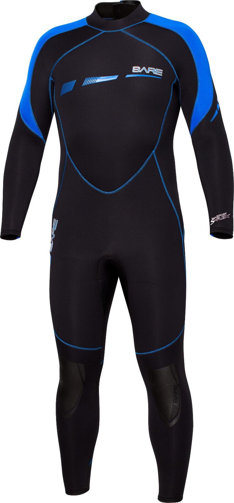 Bare 5mm Sport S-Flex Full Scuba Diving Wetsuit Sie's (Alle Größen)