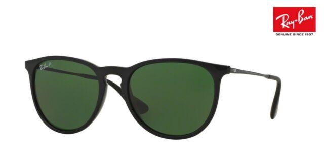 b81b2fdf7cb RAY-BAN ERIKA Sunglasses RB4171 (601 2P) Black   Green Polarised RRP