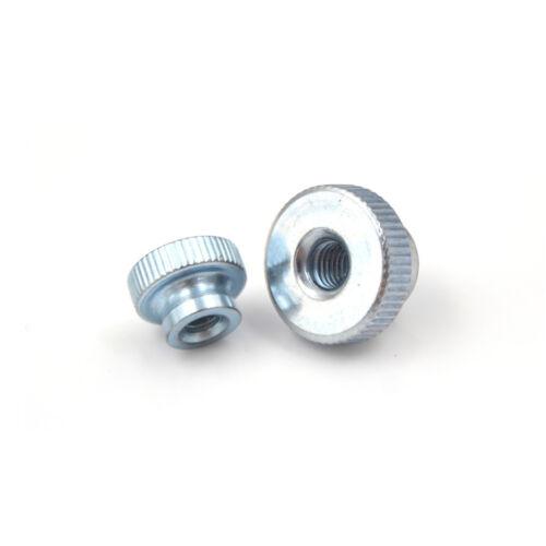 10Pcs GB806 M3//4//5 Galvanized Knurled Thumb Nut instrument Hand Tighten Nut Plf