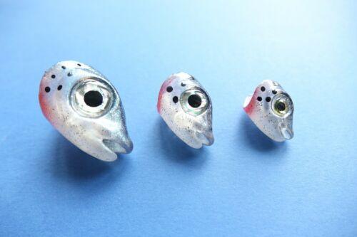 Fischköpfe aus 3D Drucker 3 Größen Regenbogen Bachforelle Hecht 3D Baitfishhead