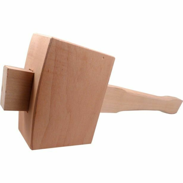Medalist CARPENTERS WOODEN MALLET Slightly Angled Faces, Chamferot Edged Handle
