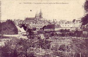 CPA-50-pres-Cherbourg-VALOGNES-Vue-des-Jardins-de-l-039-HOTEL-DE-BEAUMONT1906-Animee