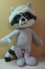 "Fiesta Large 16"" Raccoon Gray White Big Rim Glasses Plush stuffed animal toy"