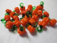 Mini Pumpkin Pendants Lot Of 50 Glass Lampwork Charms Wholesale Garden Veggies