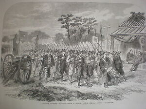 Japan-Japanese-soldiers-Marching-1864-old-print