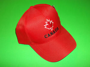 cc2e97a3f18 CANADA FLAG RED SUPPORT YOUR OLYMPIC WORLD JUNIORS HOCKEY TEAM HAT ...