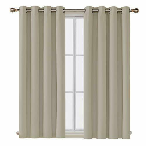 Deconovo Grommet Top Thermal Insulated Blackout Curtain