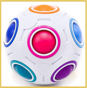 CUBIXS-Original-Ball-Magic-Regenbogen-Puzzle-Kinder-Logik-neu-3d-Stress-Hand