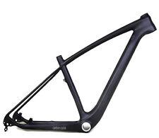 """29er 19"""" Carbon MTB Frame 142mm Thru Axle BSA UD Matt Mountain Bike Clamp LIGHT"""