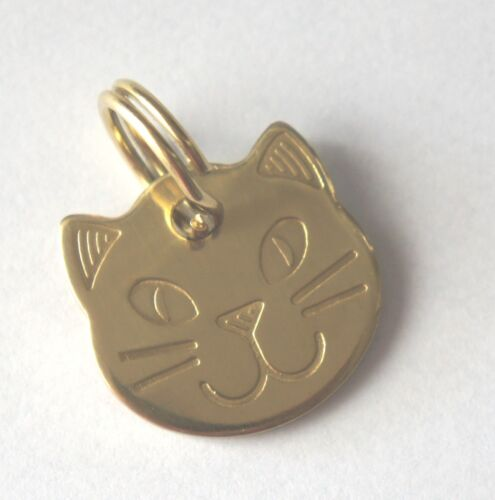 your choice BRASS NAME PET TAGS DOG CAT HORSE TAG HAND OR MACHINE ENGRAVED