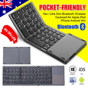 ultra slim bluetooth wireless keyboard for apple ipad iphone android windows au ebay. Black Bedroom Furniture Sets. Home Design Ideas