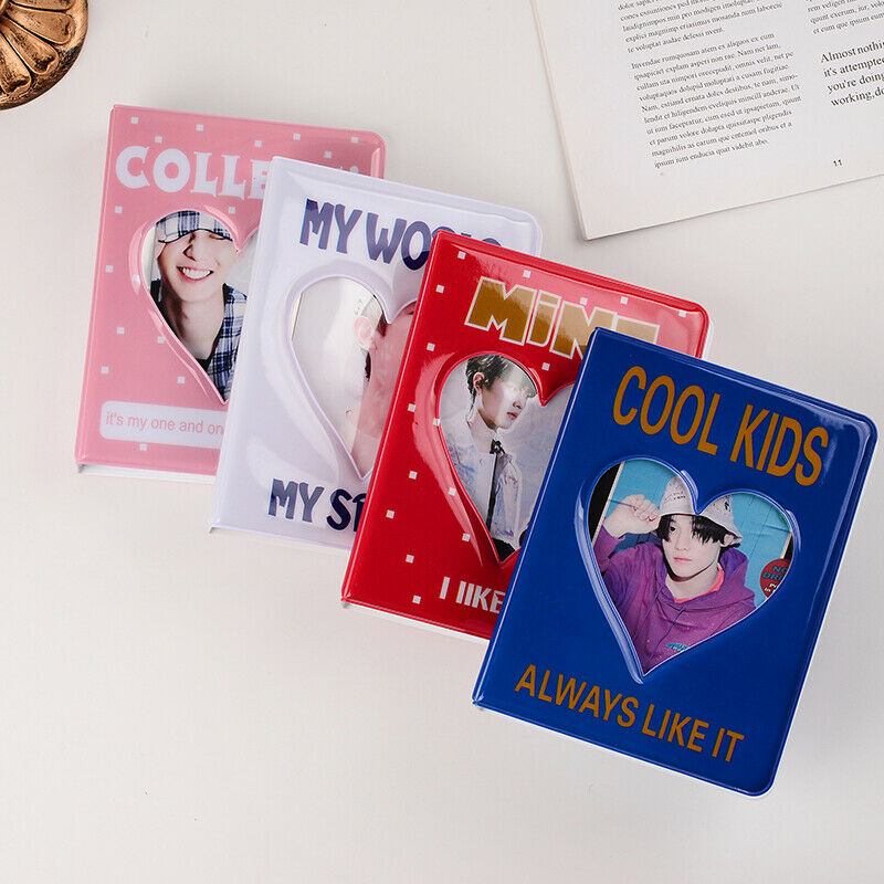 64 pocket 3 inch photo album card holder storage hollow love photo holde_UK