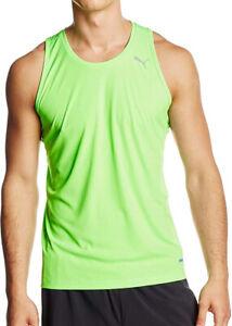 Puma PowerCool Mens Running Singlet - Green 3mo4LIbR-07162758-680806647