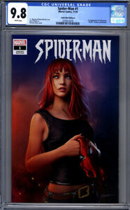 Spider-Man-1-Comic-Mint-Edition-A-Shannon-Maer-Variant-Mary-Jane-CGC-9-8