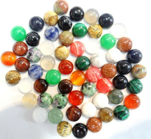 10*10MM Natural Mixing agate Oval cabochon CAB Flatback Semi-Precious Gemstone