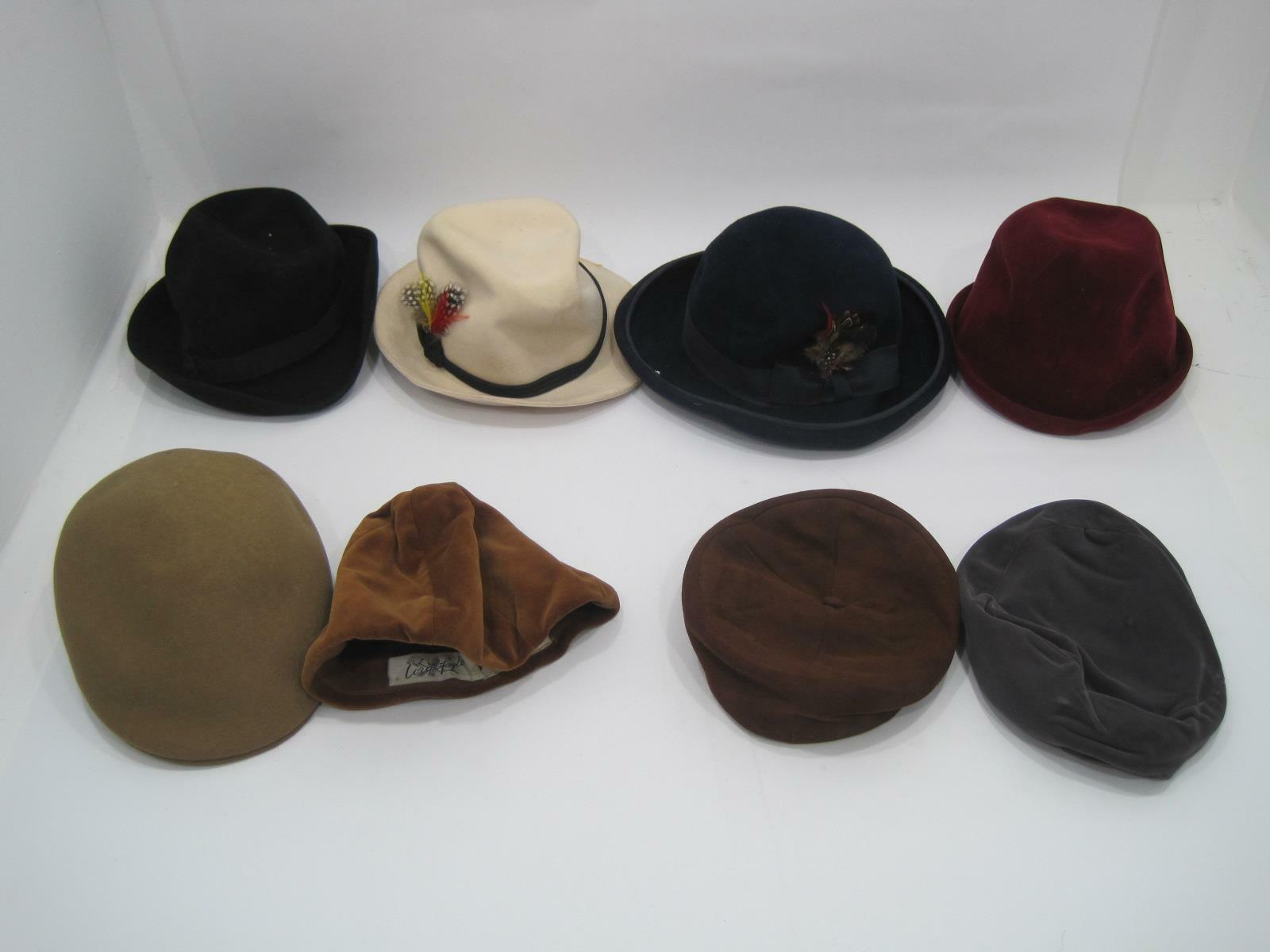 Lot of 8 Cosplay Costume Vintage Bloomingdale Excello Betmar Finley Feather Hat