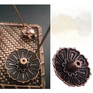 9-Holes-Lotus-Incense-Burner-Holder-Flower-Statue-Censer-Plate-For-Sticks-Cone-W