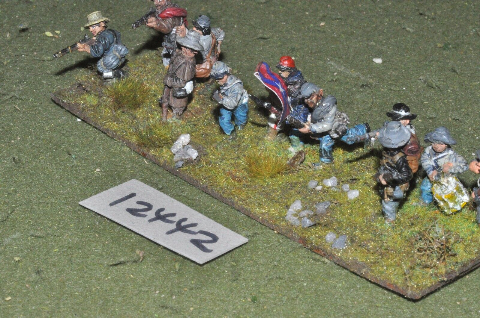 25mm ACW   confederate - american civil war infantry 12 figures - inf (12442)