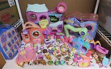 Littlest Pet Shop LPS Large lot buildings, accessories 36 pets